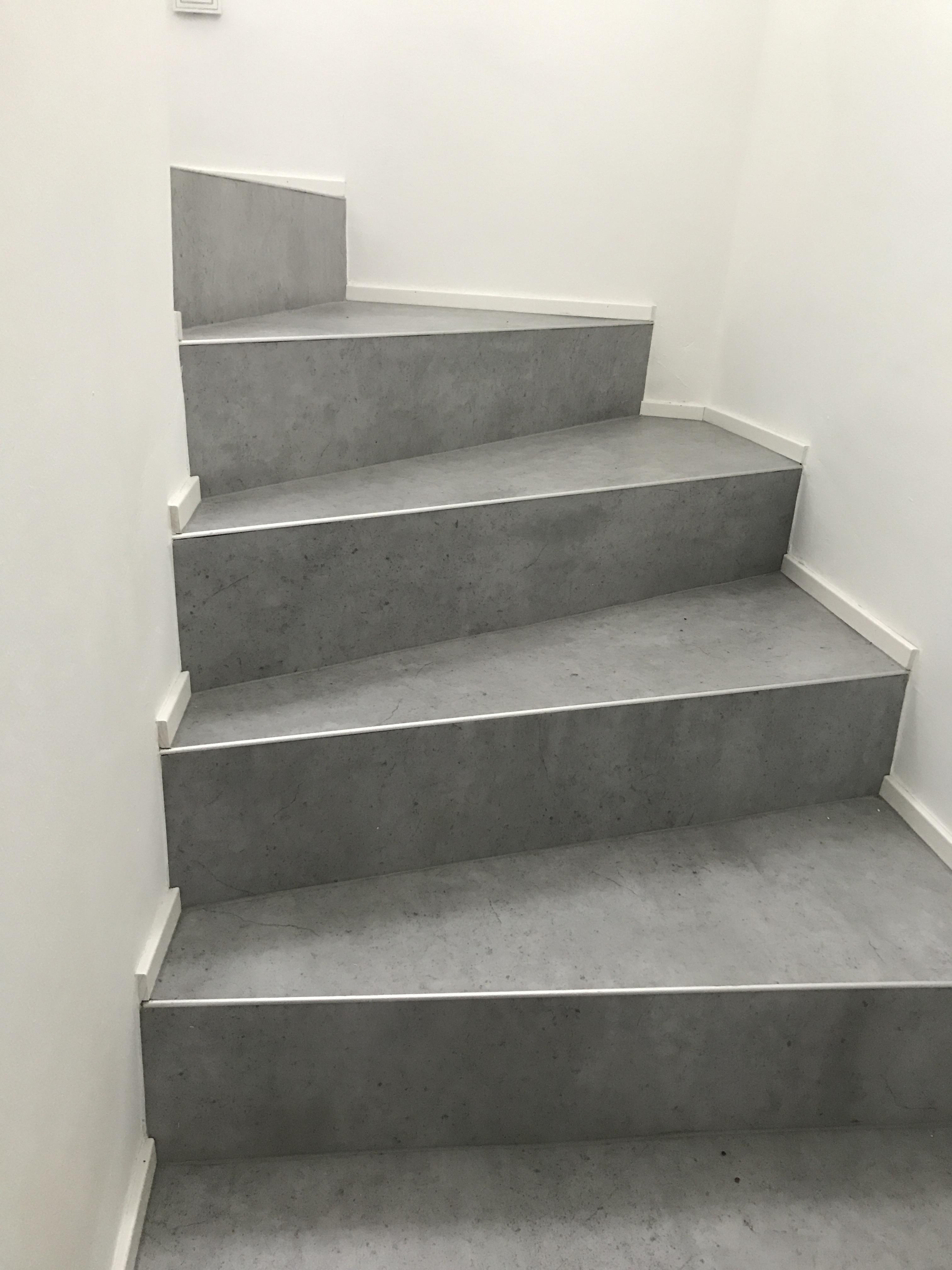 treppe mit vinyl